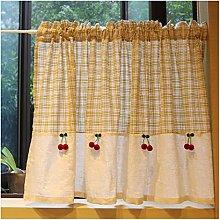 DENGS Tier Curtain Lattice Short Curtain in a