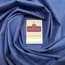 Denim colour PolyCotton Fabric - Dress Craft 44