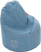 Denim Ezee Bean Bag Chair Freeport Park