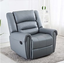 Denver Bonded Leather Recliner Armchair Stud Sofa
