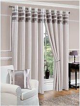 Denver Eyelet Curtain - 66X54 - Silver