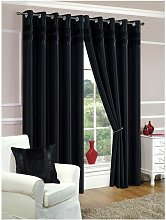 Denver Eyelet Curtain - 90X90 - Black