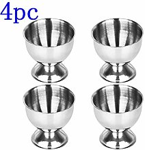 DeoMeat 4pcs Eggs Tray Egg Cup Stainless Steel