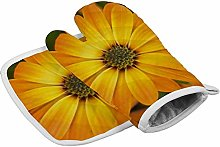 Deporsh Oven Gloves Mitts Orange Blossom Marigold