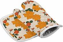 Deporsh Oven Gloves Mitts Vintage Floral Shades of