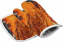 Deporsh Oven Gloves Stains Orange Spots Colorful