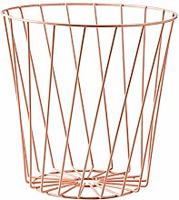 Depory Wire Bin Diagonal Lines Light Pink Modern