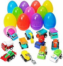 DERAYEE 12 Pack Easter Eggs Surprise Eggs Filled