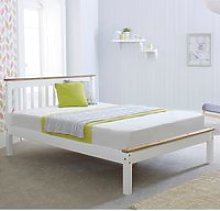 Derby White Wooden Bed Frame - 4ft6 Double