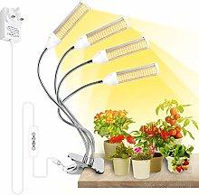 Derlights Led Grow Light, Four Head 288LEDs Plant