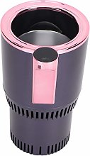 Deryang Car Cup Cooler, Portable Rose Gold Car Mug