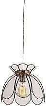Derybol Glass Hanging Lamp Fixture American Copper