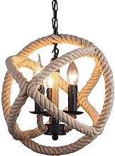Derybol Vintage Floor Lamp Chandelier Fancy Hemp