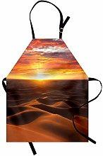 Desert Apron Dramatic Sunset Scenery At Sahara