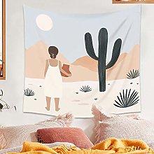 Desert Cactus Tapestry Wall Blanket Mountain Sun