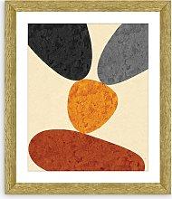 Desert Rocks 2 - Framed Print & Mount, 56 x 46cm,