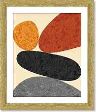 Desert Rocks 3 - Framed Print & Mount, 56 x 46cm,