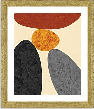 Desert Rocks 5 - Framed Print & Mount, 56 x 46cm,