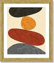 Desert Rocks 6 - Framed Print & Mount, 56 x 46cm,
