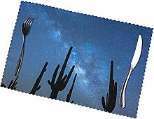Desert with Cactus Printing Placemats for Dining