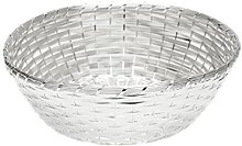 Design Bread Box Fruit Basket Metal Silver Plated