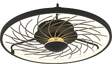 Design ceiling lamp black with gold 3-step