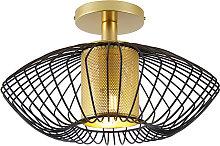 Design ceiling lamp gold with black - Dobrado