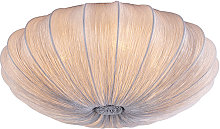 Design ceiling lamp gray silk 60 cm - Plu