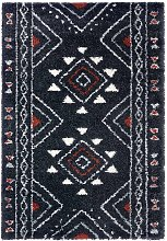 Design Deep Pile Carpet Hurley Black 160 x 230cm