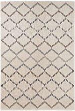 Design Deep Pile Carpet Nouveau Cream Brown 200 x