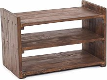 DESIGN DELIGHTS RUSTIC SOLID SHOE SHELF CAPRI |