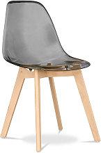 Design Deswick chair Grey transparent