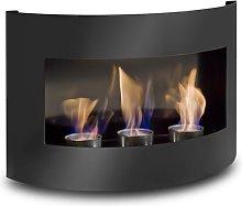 Design Fireplace RIVIERA Black Bio Ethanol Gel