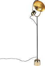 Design floor lamp gold with black - Cosmo