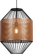 Design hanging lamp copper with black 40 cm -