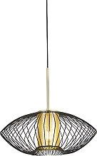 Design hanging lamp gold with black 50 cm - Dobrado