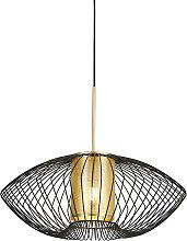 Design hanging lamp gold with black 60 cm - Dobrado