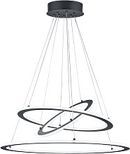 Design hanging lamp gray incl. LED 3-step dimmable