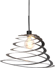 Design hanging lamp with spiral shade 50 cm -
