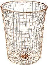 Design Ideas Cabo Waste Can Basket Bin Woven Wire