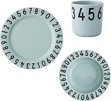 Design Letters - Mint Childrens Tableware Set -
