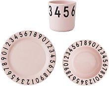 Design Letters - Pink Childrens Tableware Set -