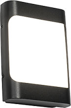 Design outdoor wall lamp black incl. LED IP44 with