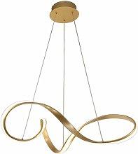 Design pendant lamp Apia 1 Bulb Golden sandblasted