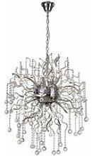 Design pendant lamp Izyda 24 Bulbs Polished chrome