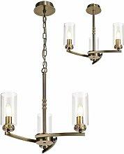 Design pendant light Contri 3 bulbs antique brass
