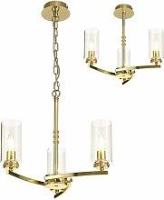 Design pendant light Contri 3 bulbs polished gold