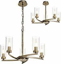 Design pendant light Contri 5 bulbs antique brass