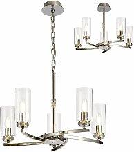 Design pendant light Contri 5 bulbs polished