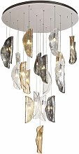 Design pendant light Ice 21 Bulbs Polished chrome